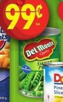 Del Monte Vegetables.341/398 mL