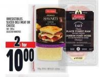 Irresistibles Sliced Deli Meat Or Cheese 160 - 200 g