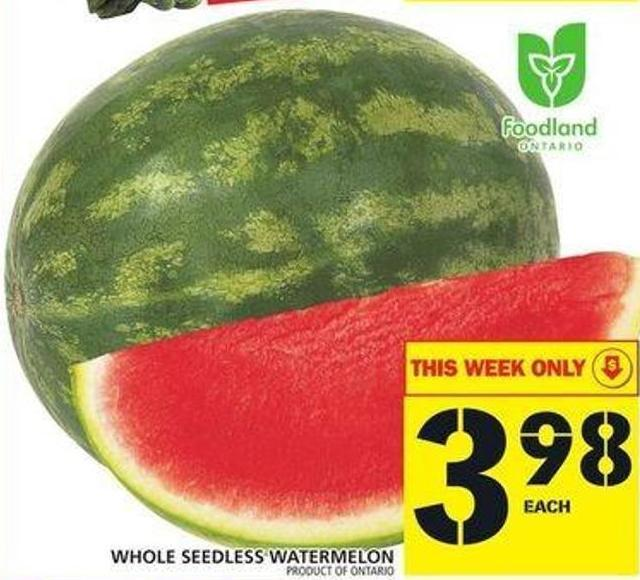 Whole Seedless Watermelon