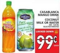 Casablanca Mango Drink Or Coconut Milk Or Water