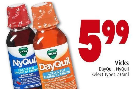 Vicks Dayquil - Nyquil Select Types 236ml