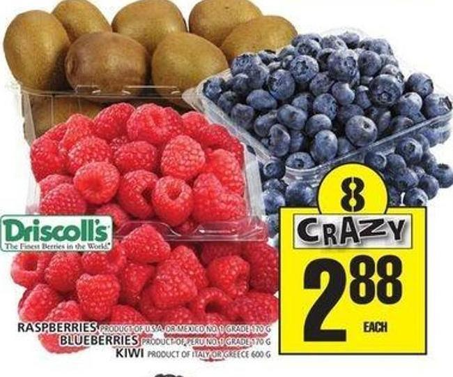 Raspberries Or Blueberries Or Kiwi