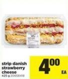 Strip Danish Strawberry Cheese - 425 G