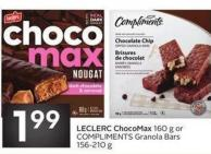 Leclerc Chocomax 160 g or Compliments Granola Bars 156-210 g