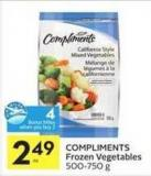 Compliments Frozen Vegetables - 4 Air Miles Bonus Miles