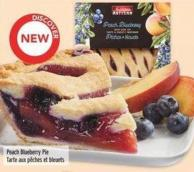 Irresistibles Peach Blueberry Pie