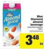 Blue Diamond Almond Beverage - 1.89 L