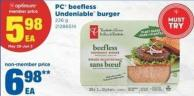 PC Beefless Undeniable Burger - 226 g