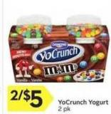 Yocrunch Yogurt 2 Pk