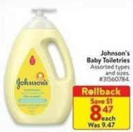 Johnson's Baby Toiletries