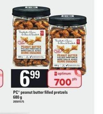 PC Peanut Butter Filled Pretzels - 680 g