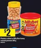 Planters Salted Or Billy Bee Honey Roasted Peanuts - 300 G