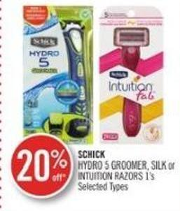 Schick Hydro 5 Groomer - Silk or Intuition Razors 1's