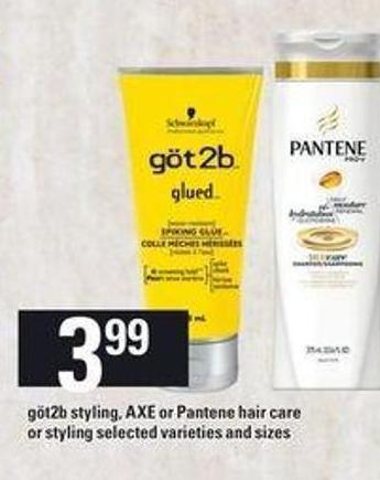 Göt2b Styling - Axe Or Pantene Hair Care Or Styling