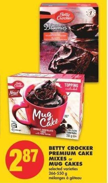 Betty Crocker Premium Cake Mixes Or Mug Cakes - 266-550 G