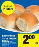 Dinner Rolls - 12's Or Butter Flakey - 6's