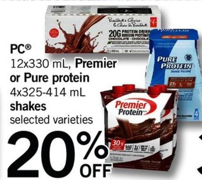 PC - 12x330 Ml - Premier Or Pure Protein - 4x325-414 Ml