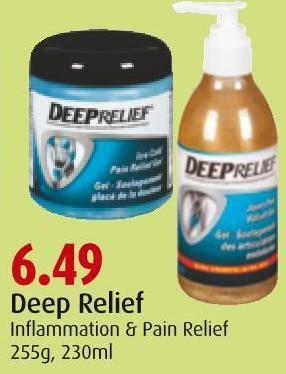 Deep Relief Inflammation & Pain Relief 255g - 230ml