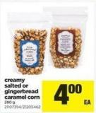Creamy Salted Or Gingerbread Caramel Corn - 280 g
