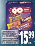 Cadbury Fun Treat Halloween Chocolate 90 Un. -