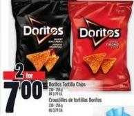 Doritos Tortilla Chips 230 - 255 g Or 3.79 Ea.