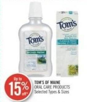 Tom's Of Maine Oral Care Products