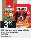 Milkbone Dog Treats Or Farmer's Medley Treats - 340-900 G