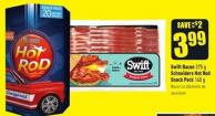 Swift Bacon 375 g Schneiders Hot Rod Snack Pack 160 g