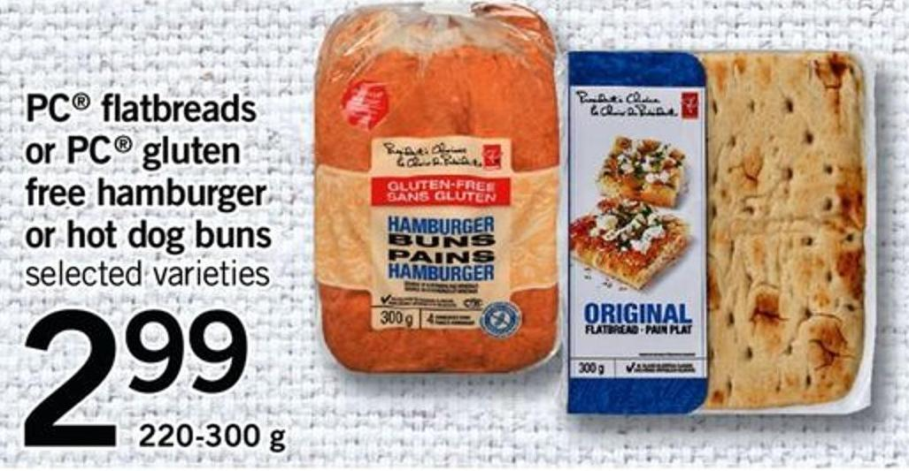 PC Flatbreads Or PC Gluten Free Hamburger Or Hot Dog Buns - 220-300 G