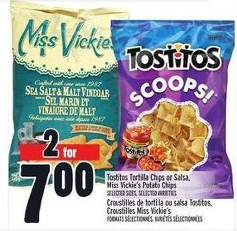 Tostitos Tortilla Chips or Salsa - Miss Vickie's Potato Chips