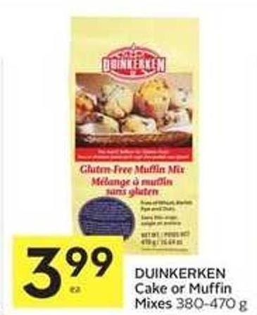 Duinkerken Cake or Muffin Mixes