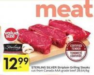 Sterling Silver Striploin Grilling Steaks