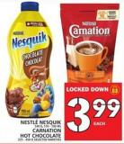 Nestlé Nesquik Or Carnation Hot Chocolate