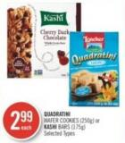 Quadratini Wafer Cookies (250g) or Kashi Bars (175g)