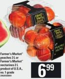 Farmer's Market Peaches - 3 L Or Farmer's Market Nectarines - 2 L