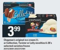 Chapman's Original Ice Cream 2 L Or Collection - Twister Or Lolly Novelties 6-28's