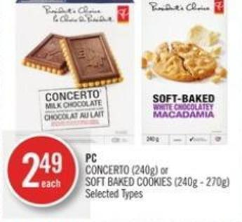 PC Concerto (240g) or Soft Baked Cookies (240g - 270g)