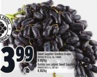 Sweet Sapphire Seedless Grapes