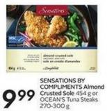 Sensations By Compliments Almond Crusted Sole 454 g or Ocean's Tuna Steaks 270-300 g