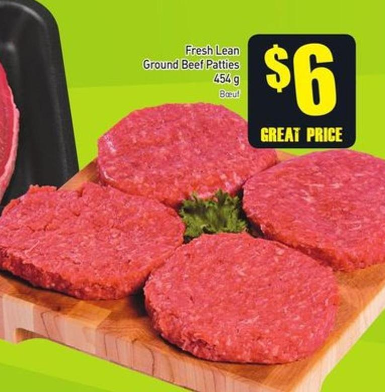 Fresh Lean Ground Beef Patties 454 g