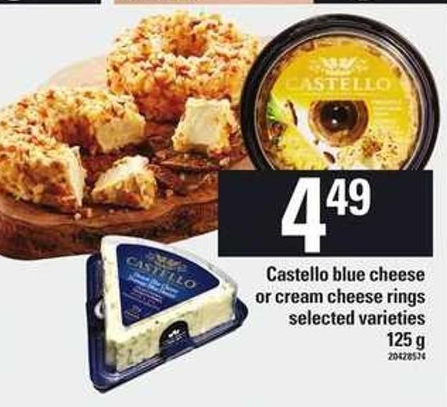 Castello Blue Cheese Or Cream Cheese Rings - 125 G