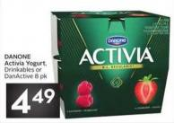 Danone Activia Yogurt - Drinkables or Danactive 8 Pk