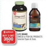 Life Brand Omega or Fish Oil Products