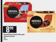 Nescafé Rich Or Gold Coffee PODS - 12's