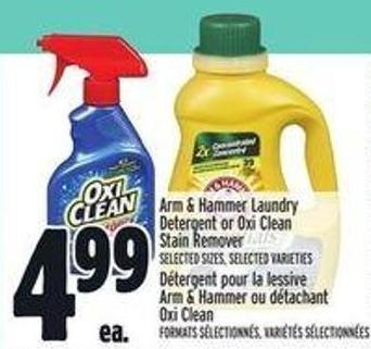 Arm & Hammer Laundry Detergent Or Oxi on sale | Salewhale