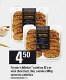 Farmer's Market Cookies 12's Or Mini Chocolate Chip Cookies 310 G