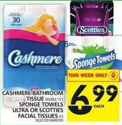 Cashmere Bathroom Tissue Or Sponge Towels Ultra Or Scotties Facial Tissues