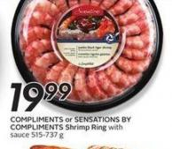 Compliments or Sensations By Compliments Shrimp Ring With Sauce 515-737 g