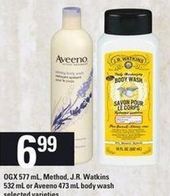 Ogx - 577 mL - Method - J.r. Watkins - 532 mL Or Aveeno Body Wash - 473 mL