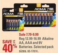 Noma Alkaline Aa - Aaa and 9v Batteries